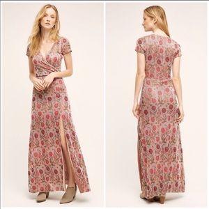 Anthropologie Dresses - 🍁Anthro Posy Metallic Maxi Dress Cecilia Prado💓